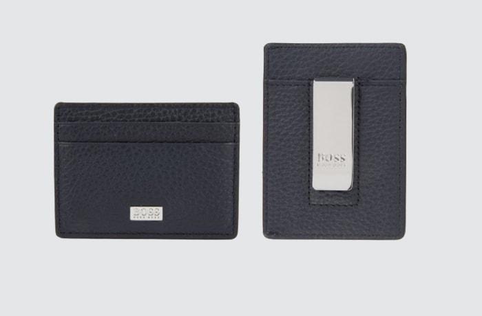 cartera pequeña tipo clip para billetes de Hugo Boss