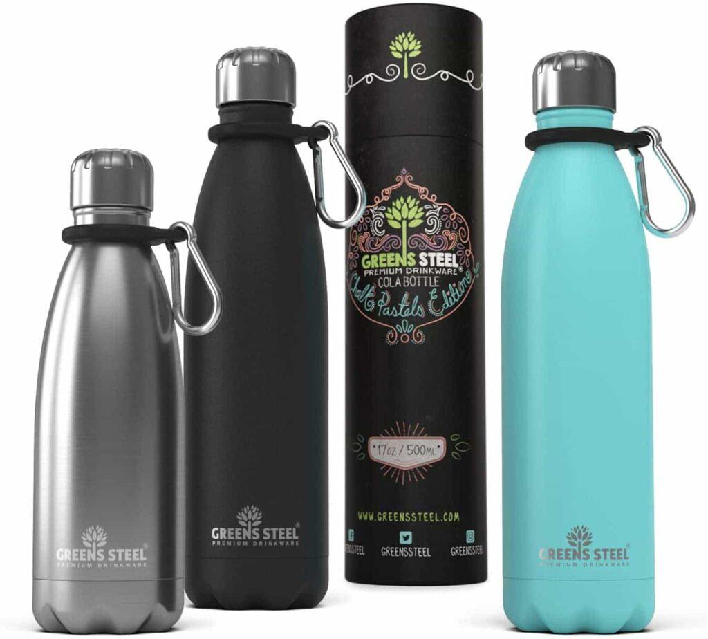 botella agua acero inoxidable green steel